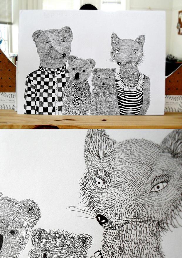 #sketchy  commissions - illustration - Lauren Fowler Design