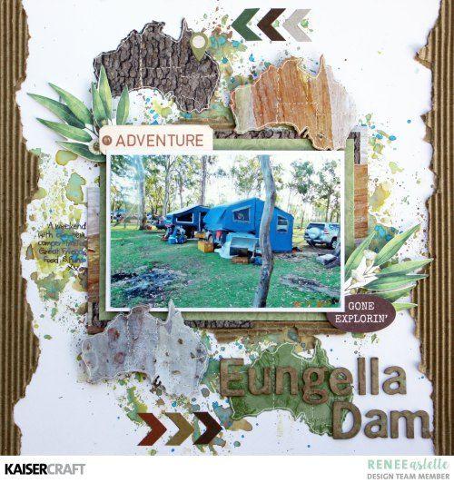 Eungella Dam Layout using Open Road by Renee Aslette - Kaisercraft Official Blog