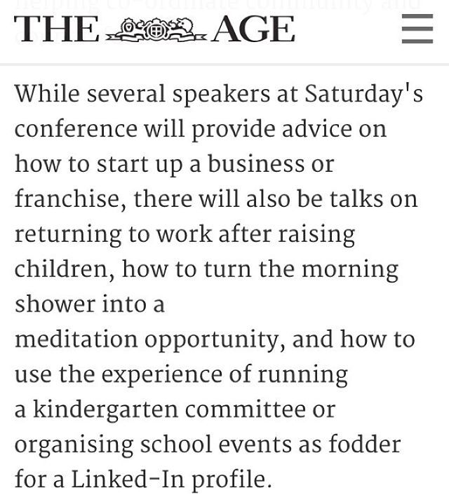 Congratulations to Danielle @careerideasformums for being featured in @theagephoto today. Visit @thinkbespoke Facebook page for the article. #cifmexpo2015 #career #flexiblework #mumsreturningtowork #business #startup #smallbusiness #mumpreneur #entrepreneur #linkedin #linkedintraining #linkedinprofile #thinkbespoke #careercoach