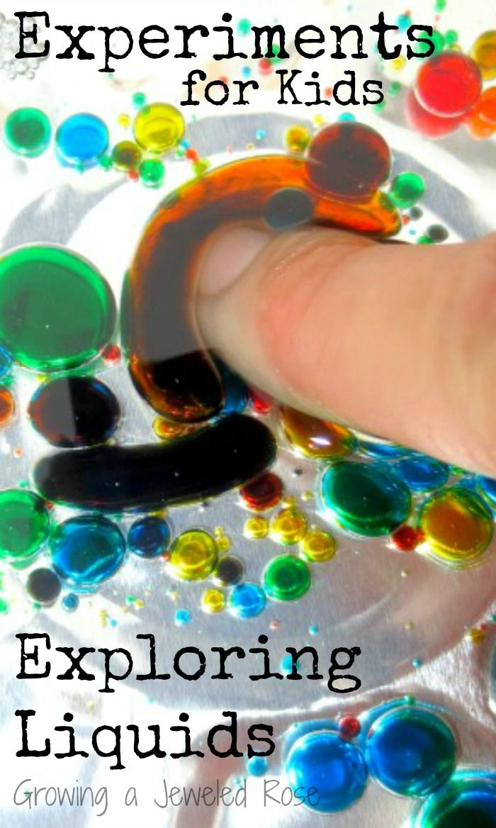4 FUN experiments for Kids that explore liquids, colors, reactions, and more!