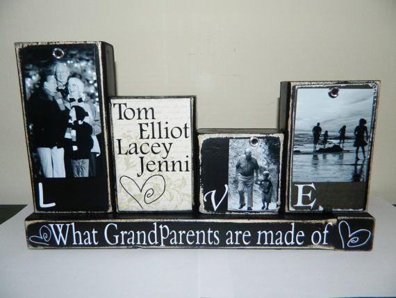 Grandparent gift grandma grandpa love what by FayesAttic11 on Etsy, $28.00