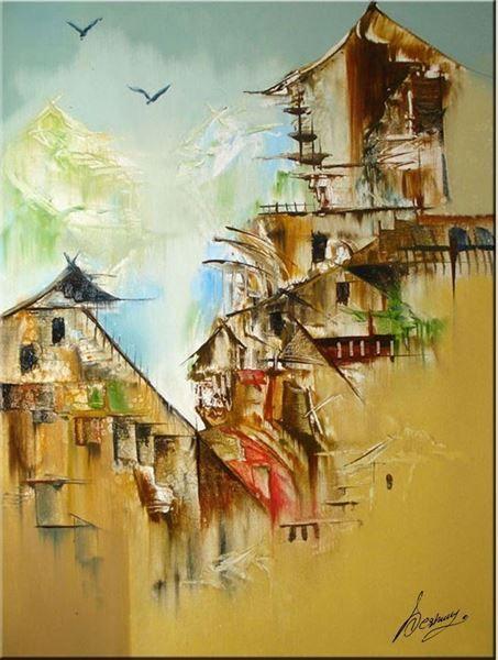 Sameer Deshmukh Original Hand-Painted Art Painting Online. Subject-Landscape-01, Surface-Canvas, Medium-Oil, landscape paintings, Shiva paintings, landscape canvas, Hand-Painted, Oil Painting,Artwork,Buy Painting Online, Paintings for office