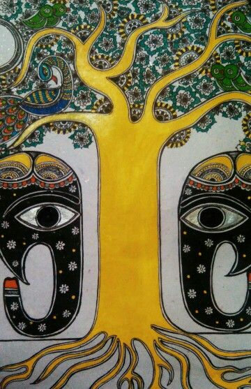 Madhubani painting by Aparajita sharma