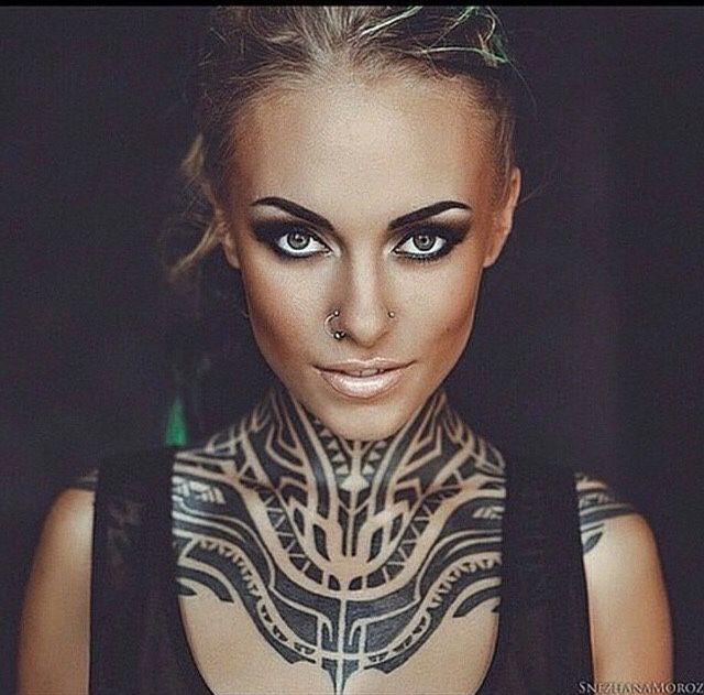 13 best bodmod images on pinterest tatoos tattoo for Female neck tattoos
