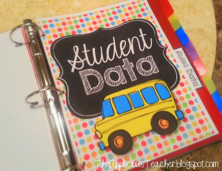 DIY: Student Data Binder- use one binder to keep track of all that data! This is a sanity saver!