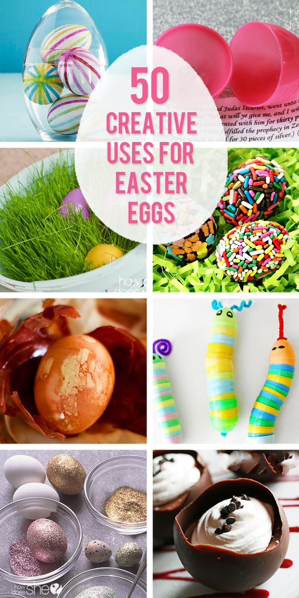 """Easter is coming and if you're tired of the same old colored eggs, here are 50 fabulous ideas to take those eggs from """"meh"""" to eggcellent!  From our HowDoes"""
