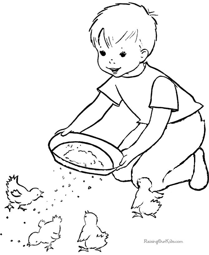 free printable farm coloring page for kid - Free Printable Colouring Pages For Toddlers