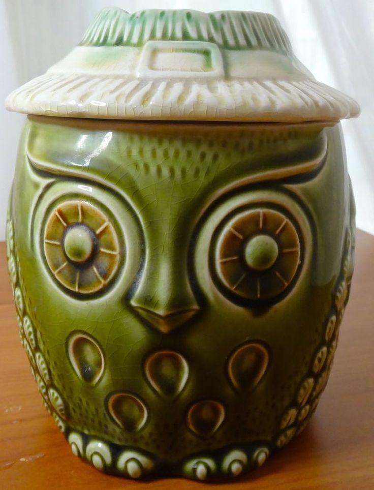 Vintage Owl Cookie Jar made in Japan