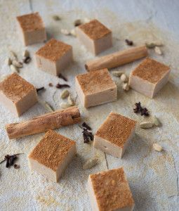 Quick and easy chai fudge recipe using white chocolate. Perfect for gifts, school fetes and eating in general.