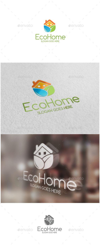 Eco Home Logo http://graphicriver.net/user/ms_designer/portfolio?ref=MS_designer