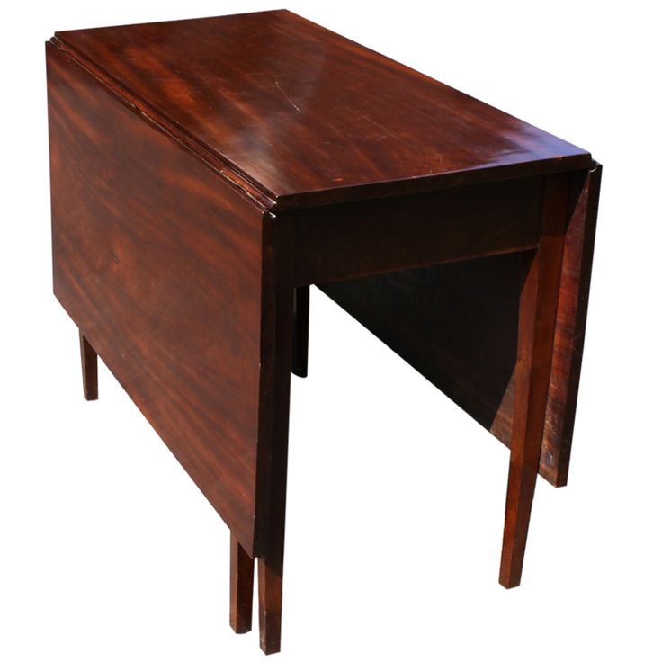 Mahogany Drop Leaf Table From A Unique Collection Of