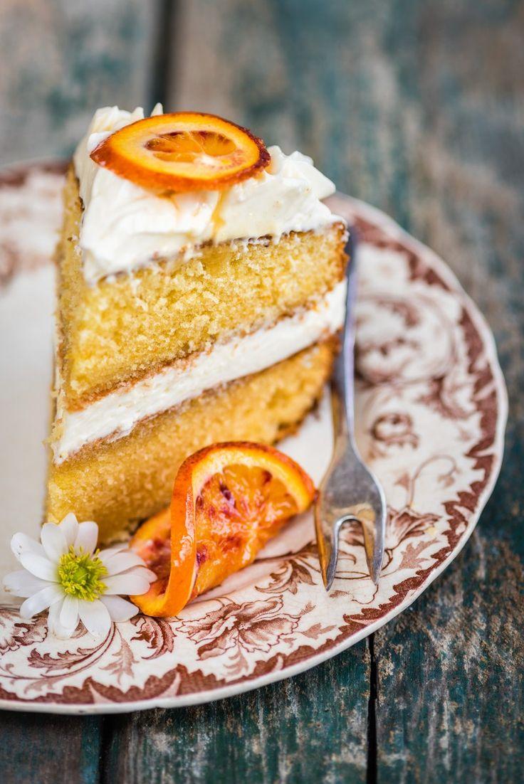 Manuka honey orange pound cake with honeyed cream cheese filling | Supergolden Bakes