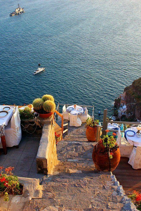 Caldera View Dining, Fira, Santorini, Greece