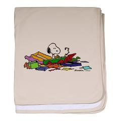 Snoopy Gifts baby blanket.  Image available on many other items.        $29.99