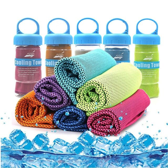 2018 New 90 30cm Sports Ice Towel Utility Enduring Instant Cooling Towel Breathable Sport Ice Towel Outdoor Sport