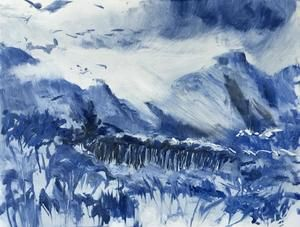 Patricia Fraser   'Afternoon Walks'   Monotype   32 x 25, Framed   R3600    SOLD