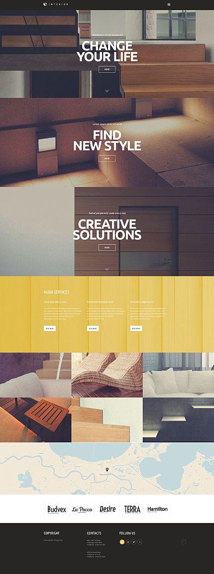 Interior Design Site #Wordpress #template. #themes #business #responsive