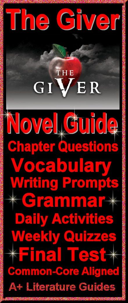 156 Page Common-Core Aligned Complete Literature Guide for The Giver.  Everything a teacher needs to teach and test this novel!