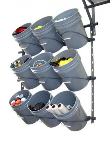 9 Bucket Rack Kit. Would be great for baseballs & softballs