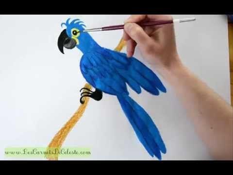 Les 25 meilleures id es de la cat gorie perroquet bleu sur - Dessiner un perroquet ...