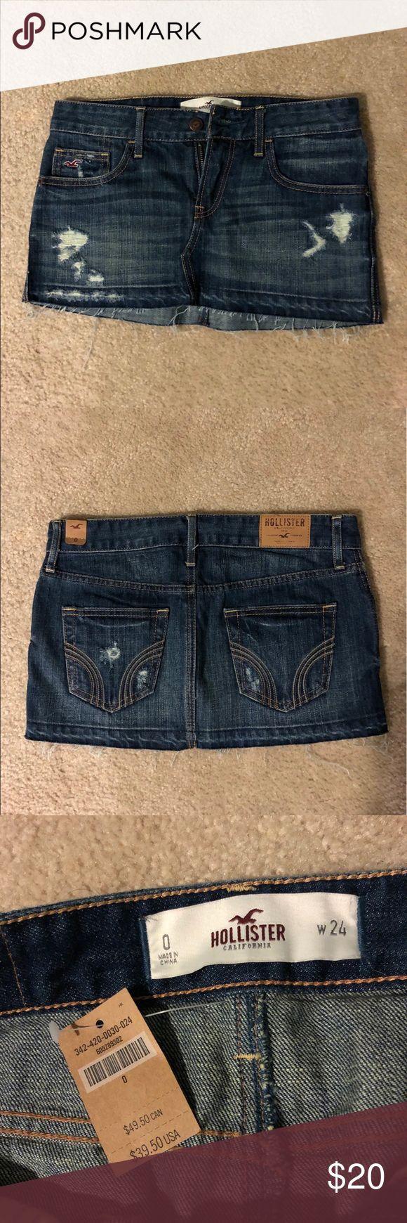 Jean skirt Never worn size 0 Hollister skirt! Hollister Skirts Mini