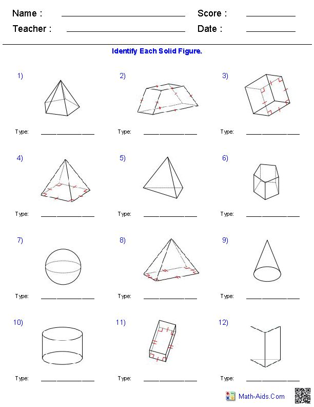 Shapes Worksheets For 3rd Grade - solid shapes worksheets 4th grade ...