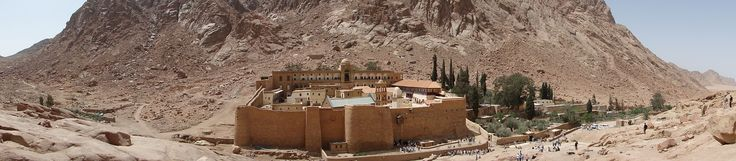 """Saint Catherine's Monastery officially """"Sacred Monastery of the God-Trodden Mount Sinai"""" lies on the Sinai Peninsula, at the mouth of a gorge at the foot of Mount Sinai, in the city of Saint Catherine, Egypt in the South Sinai Governorate. The monastery is controlled by the autocephalous Church of Sinai, part of the wider Eastern Orthodox Church, and is a UNESCO World Heritage Site."""