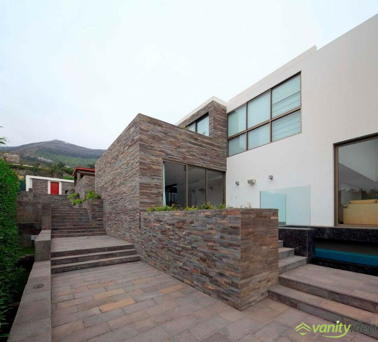 wood and stone walls design