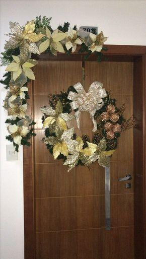 TOCA LA IMAGEN Y MIRA COMO HACER GUIRNALDAS NAVIDEÑAS DE PARED! #christmas #handmade #navidad #crochet #ideas #2018 #decor #decoración – 💫Sallee _4reelz💫