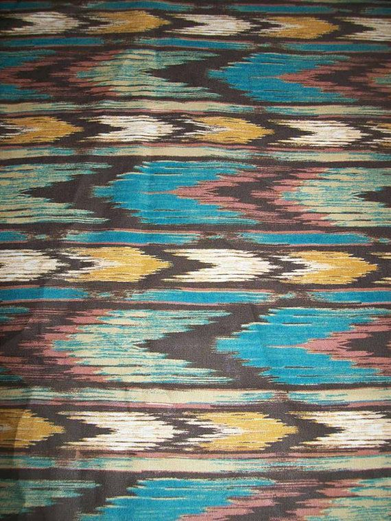 Ikat tissu d'impression natif / tissu aztèque par tambocollection