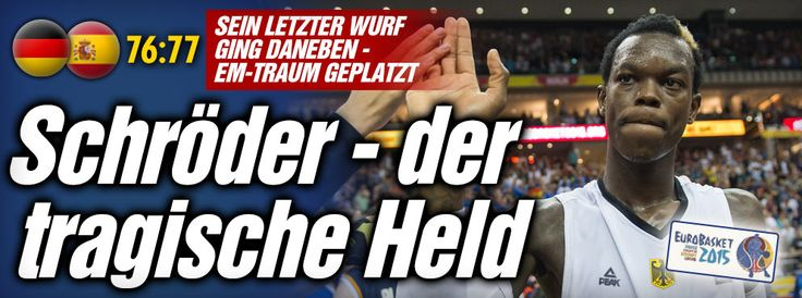 Basketball-EM bei BILD: Deutschland - Spanien 76:77 - #Basketball-#Traum geplatzt http://www.bild.de/sport/mehr-sport/basketball-em/aus-fuer-nowitzkis-riesen-42529288.bild.html I knew that GER #basketball has no chance for #EM this time,ask Dr.#Merkel why...lol, but GER can pay 1,8 Mio EUR as '#Ausrichter', s.t.can go to #Olympia lol ;-D