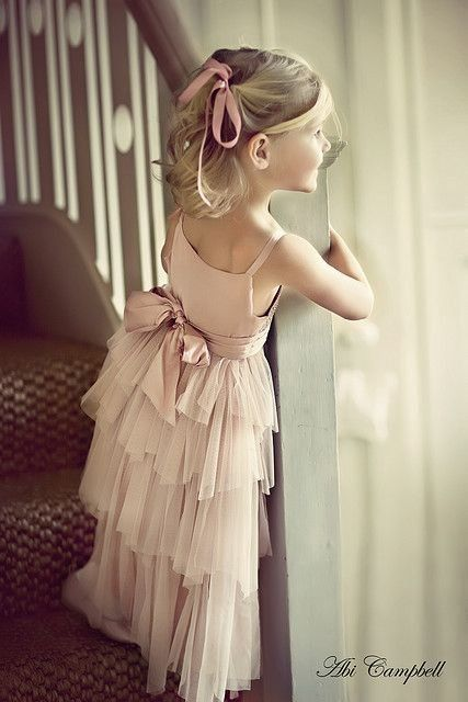 Perfect simple flower girl outfit in blush pink