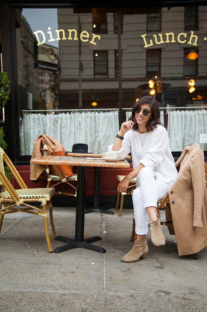 Left my heart in san francisco {cafe de la presse} :: THURSDAY, MARCH 19, 2015 ::  Jacket: Zara; Sweater: MiH Jeans; Jeans: Parker Smith; Sunglasses: Ray-Ban; Necklace: Alexis Bittar; Watch: Daniel Wellington; Boots: Isabel Marant :: Photos by Anna-Alexia Basile :: This Time Tomorrow