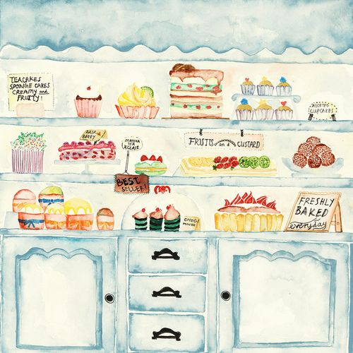 Cute bakery display illustration! Bakeries are Magical ...