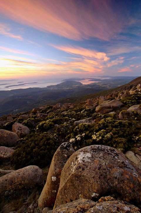 Mt. Wellington sunrise, Hobart, Tasmania, Australia Copyright: Dan Johnson