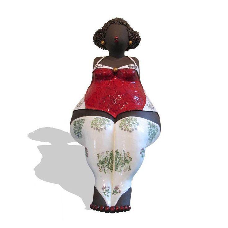 Keramiek beeld 'Mokkeltje' sculptuur keramische sculpturen kunst
