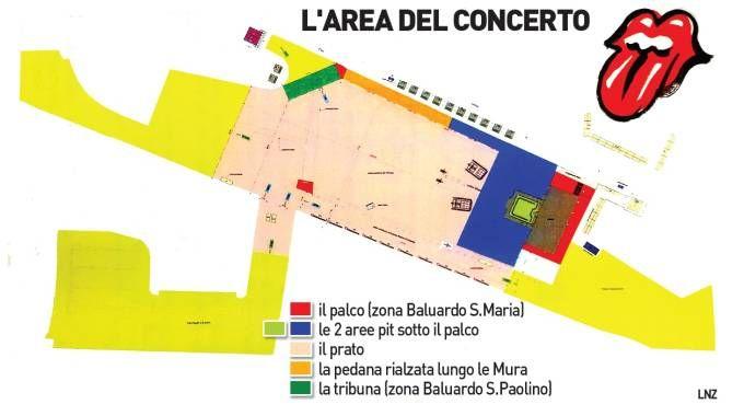 Area of Rolling Stones concert