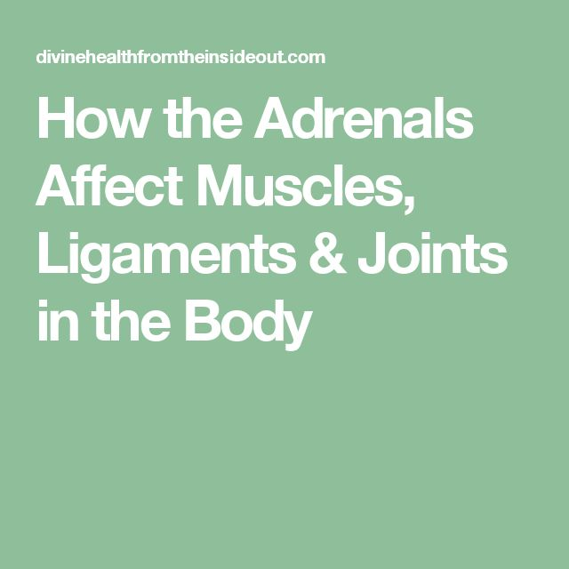 How the Adrenals Affect Muscles, Ligaments & Joints in the Body