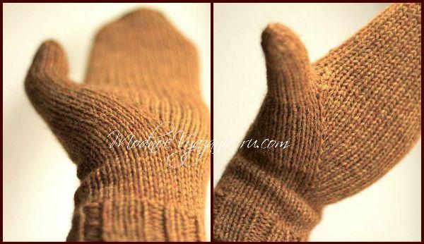 Варежки спицами Sydänmaa индийским клином -  Модное вязание