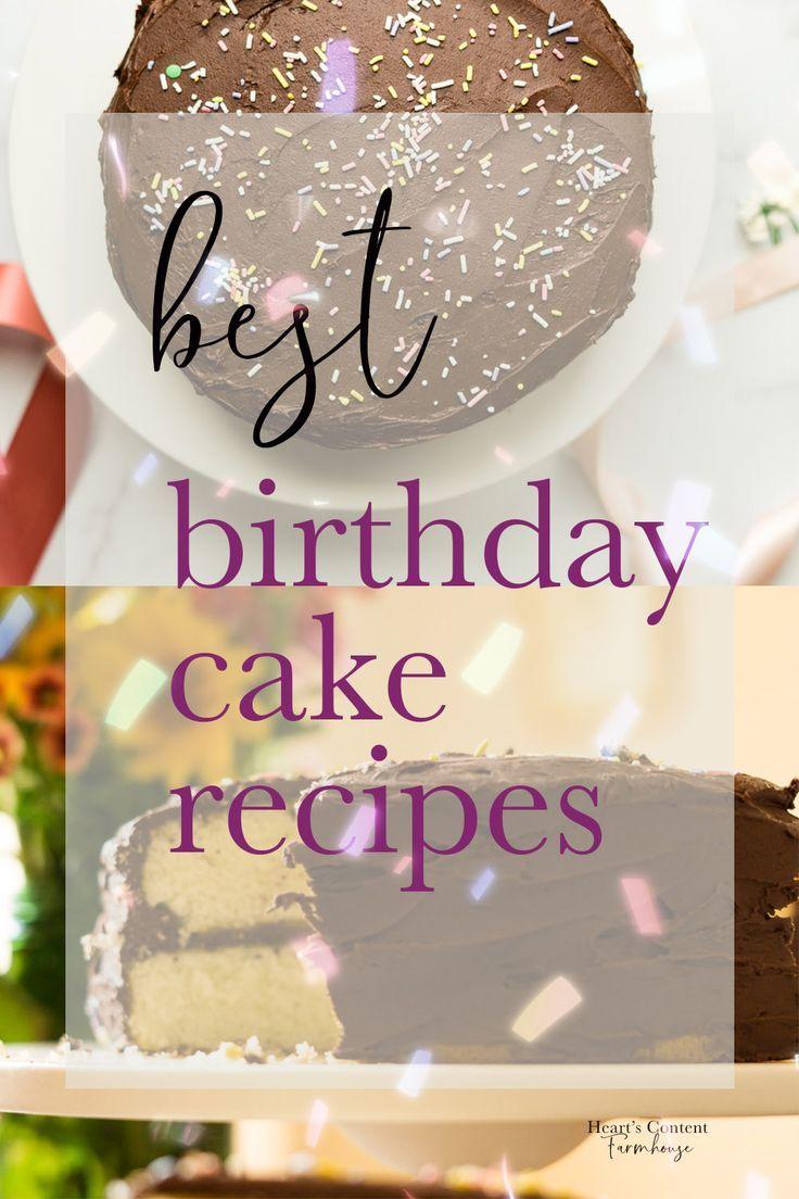 Fine The Best Classic Birthday Cake Recipes In 2020 Cool Birthday Funny Birthday Cards Online Alyptdamsfinfo