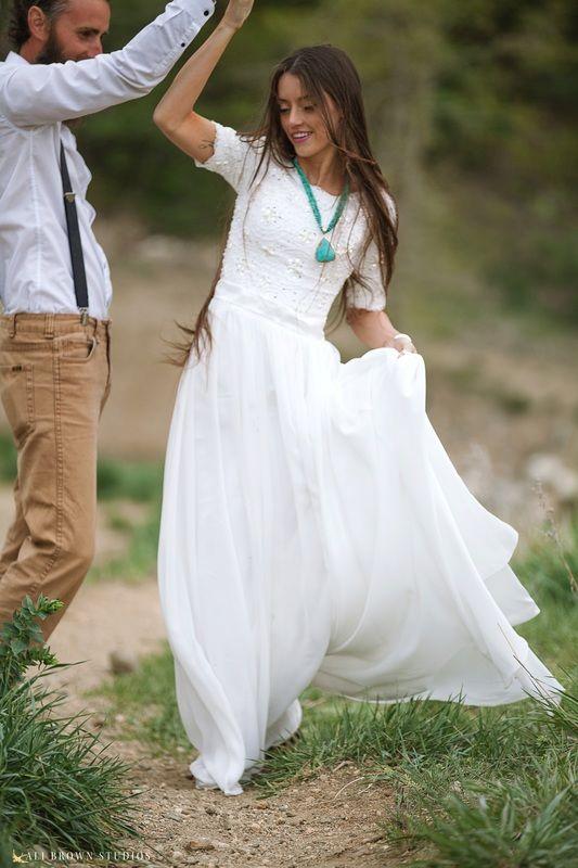 Bohemian Chiffon Wedding Dress Gallery
