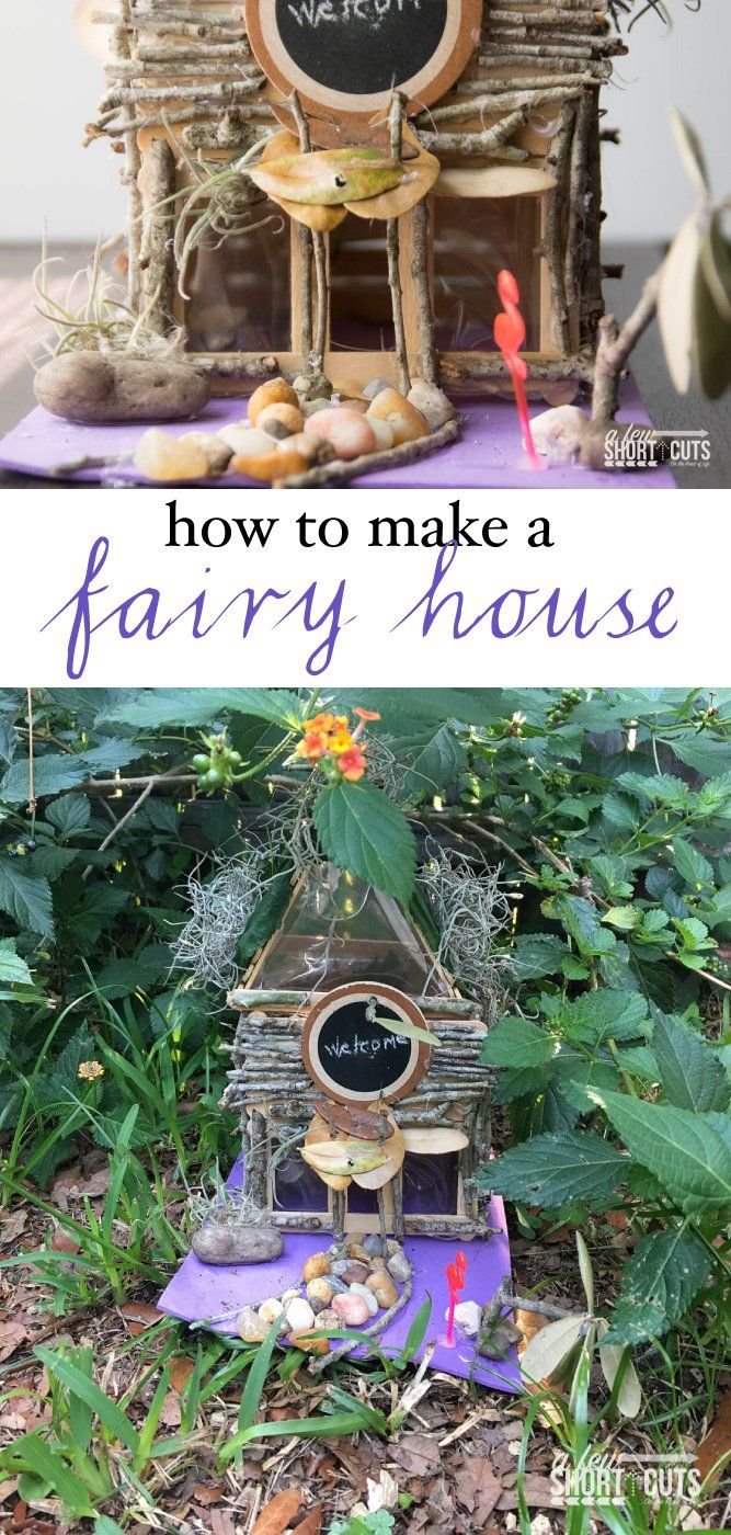 how to make a fairy house diy crafts inspirations pinterest fairy houses fairy garden. Black Bedroom Furniture Sets. Home Design Ideas