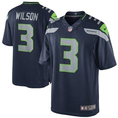 Nike Russell Wilson Seattle Seahawks Limited Jersey - College Navy (Size: XXL)