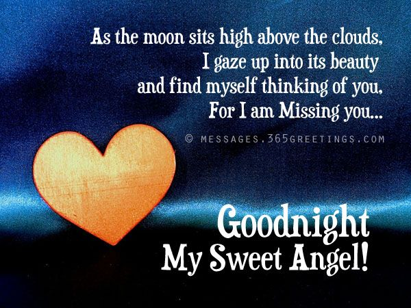 Goodnight sweet dreams my sweetheart, I love you, I've got to be at work at 7 tomorrow so I'll hear you beep in the morning love you!