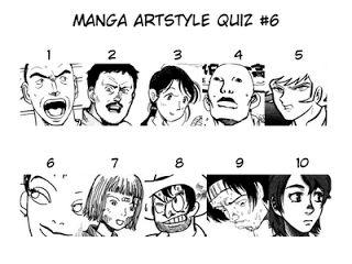 Highlight the following text for Quiz 6 answers: 1.Iwaaki Hitoshi (Heureka) 2.Otomo Katsuhiro (Akira) 3.Kouno Fumiyo (Town of Evening Calm, Country of Cherry Blossoms) 4.Matsumoto Taiyo (Ping Pong) 5.Nagai Go (Devilman) 6.Okazaki Kyouko (River's Edge) 7.Kago Shintarou (Fetus Collection) 8.Tezuka Osamu (Black Jack) 9.Yamamoto Naoki (Belivers) 10.Yukimura Makoto (Planetes)