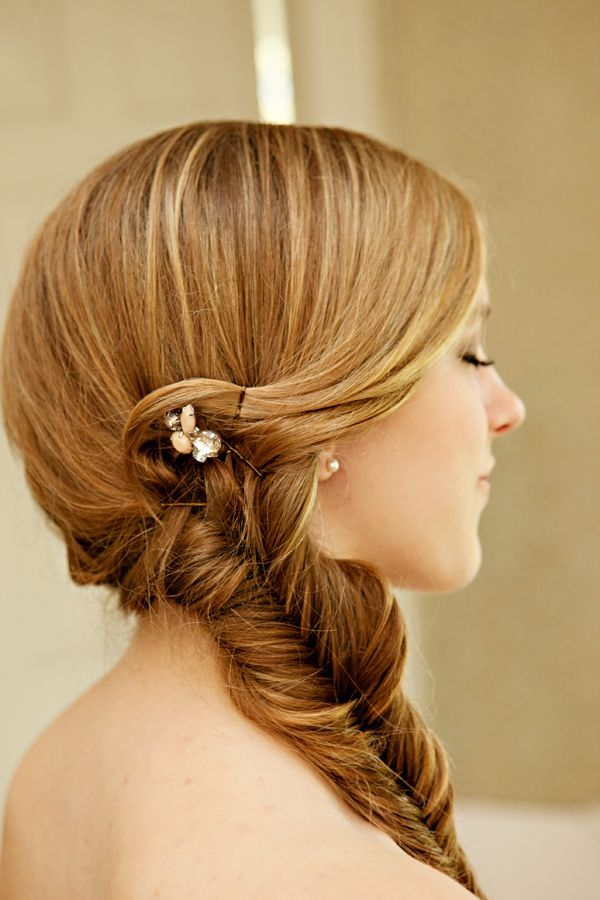beautiful hairstyle.
