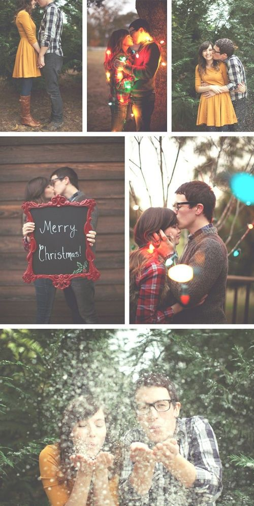 Christmas couple photo shoot. Except for the last one.