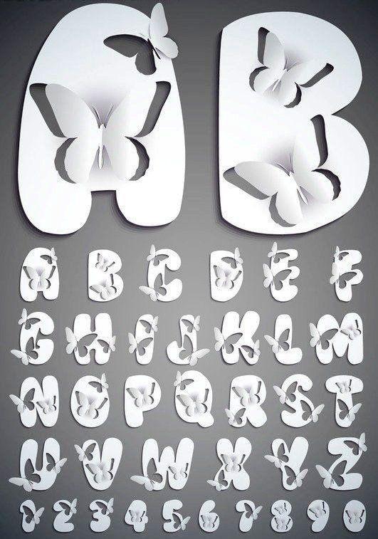 Lettere farfalle