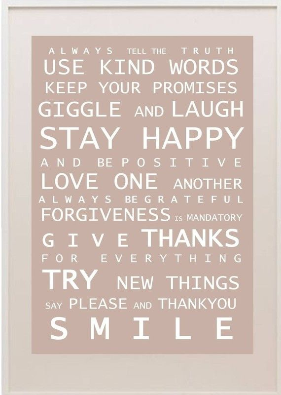 Words to Live By