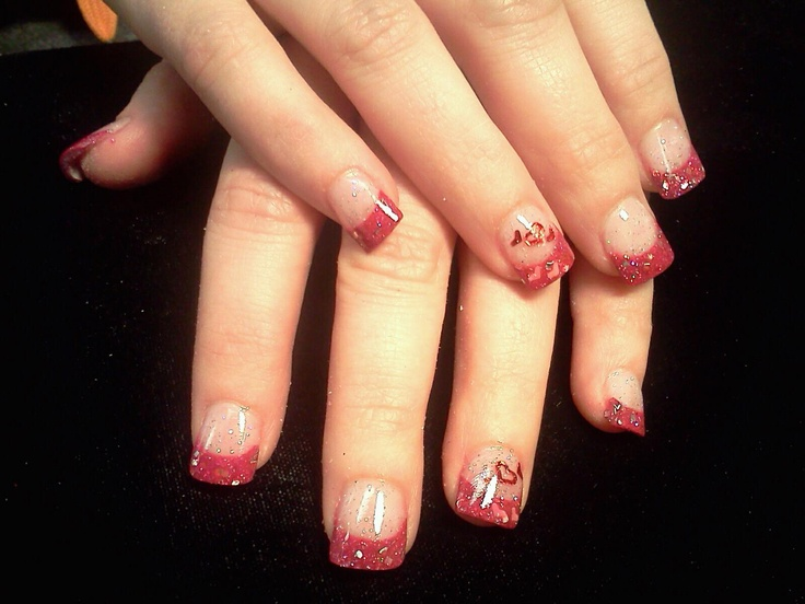 Just A Bit Of Valentines Cheer Valentine Acrylic Nail Designs Pinterest Valentines And Cheer